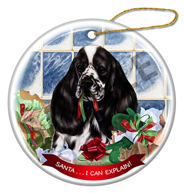 Raining Cats and Dogs | Santa I Can Explain Cocker Spanil Christmas Ornament