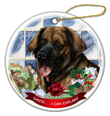 Raining Cats and Dogs | Santa Leonberger Christmas Ornament