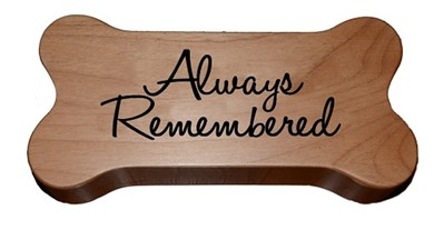 Raining Cats and Dogs | Always Remembered Wood Dog Bone Memorial Urn