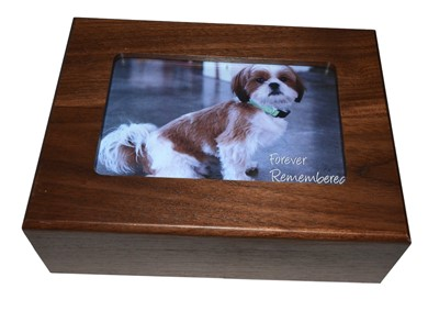 Raining Cats and Dogs | Wood Dog or Cat Photo Urn