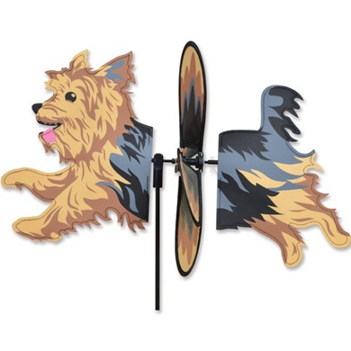 Raining Cats and Dogs | Yorkie Dog Garden Spinner