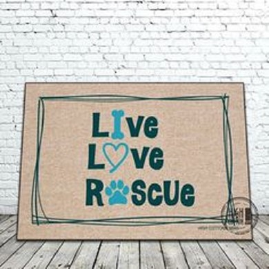 Raining Cats and Dogs | Live Love Rescue Pet Door Mat
