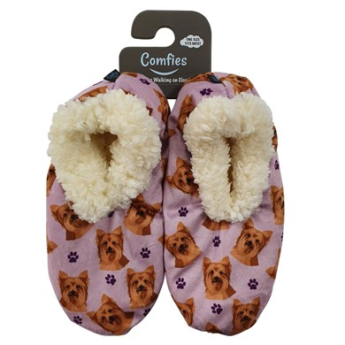 Raining Cats and Dogs | Yorkshire Terrier Comfies Dog Print Slippers