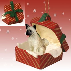 Akita Gift Box Christmas Ornament