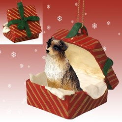 Australian Shepherd Gift Box Christmas Ornament