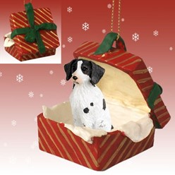 Brittany Gift Box Christmas Ornament
