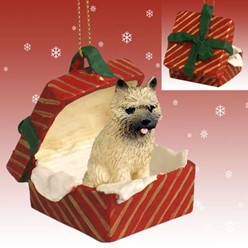 Cairn Terrier Gift Box Christmas Ornament
