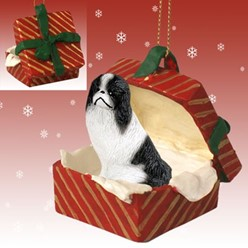 Japanese Chin Gift Box Christmas Ornament