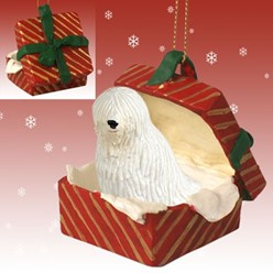 Komondor Gift Box Christmas Ornament