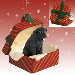 Labrador Retriever Gift Box Christmas Ornament