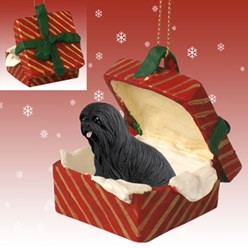 Lhasa Apso Gift Box Christmas Ornament