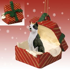 Pit Bull Gift Box Christmas Ornament
