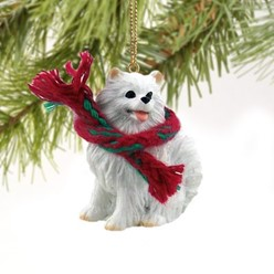 American Eskimo Christmas Ornament- click for more breed options