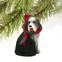 Bearded Collie Christmas Ornament