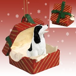 Springer Spaniel Gift Box Christmas Ornament
