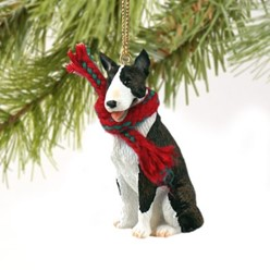 Bull Terrier Christmas Ornament- click for more breed colors