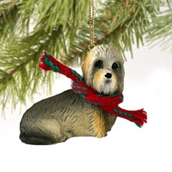 Dandie Dinmont Christmas Ornament