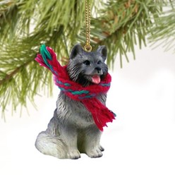 Keeshond Christmas Ornament