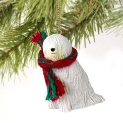 Komondor Christmas Ornament