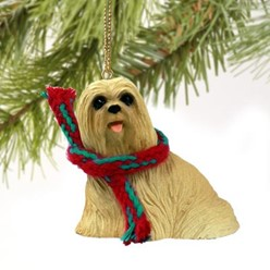 Lhasa Apso Christmas Ornament