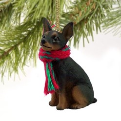 Miniature Pinscher Christmas Ornament- click for more breed colors