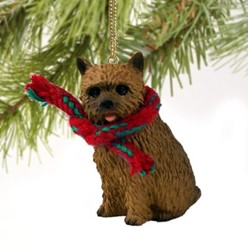Norwich Terrier Christmas Ornament