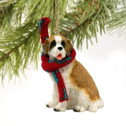 Saint Bernard Christmas Ornament- click for more breed options