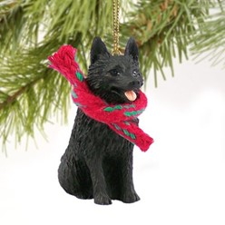 Schipperke Christmas Ornament