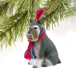 Schnauzer Christmas Ornament- click for more breed colors