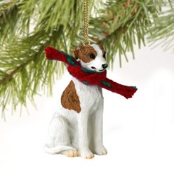 Whippet Christmas Ornament