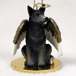 Australian Cattle Dog Angel Ornament - click for more breed colors