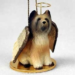 Briard Angel Ornament