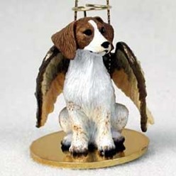 Brittany Dog Angel Ornament - click for more breed colors
