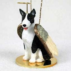 Bull Terrier Dog Angel Ornament - click for more breed colors
