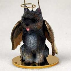 Cairn Terrier Dog Angel Ornament - click for more breed colors