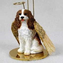 Cavalier King Charles Angel Ornament - click for more breed colors