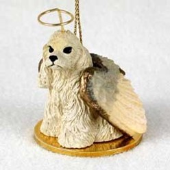 Cocker Spaniel Dog Angel Ornament - click for more breed colors