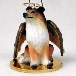 Collie Dog Angel Ornament - click for more breed options