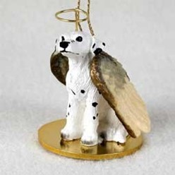 Dalmatian Angel Ornament
