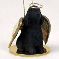 English Cocker Angel Ornament - click for more breed colors