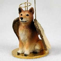 Finnish Spitz Angel Ornament