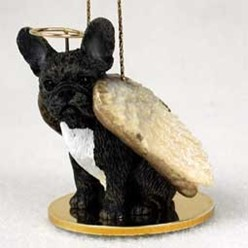 French Bulldog Angel Ornament - click for more breed colors