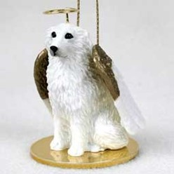 Great Pyrenees Angel Ornament