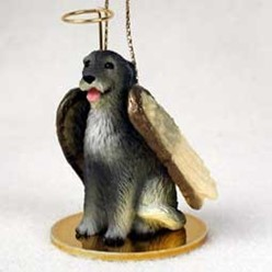 Irish Wolfhound Angel Ornament