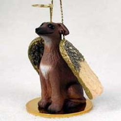 Italian Greyhound Angel Ornament