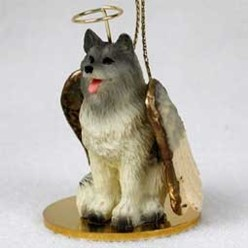 Keeshond Angel Ornament