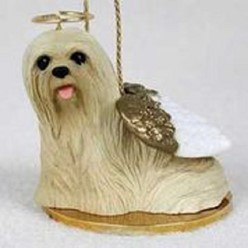 Lhasa Apso Dog Angel Ornament - click for more breed colors