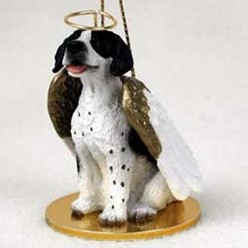 Pointer Dog Angel Ornament - click for more breed colors