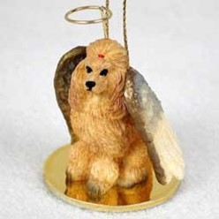 Poodle Dog Angel Ornament - click for more breed colors