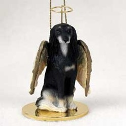 Saluki Angel Ornament